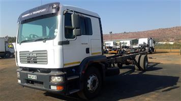 Man TGM 18-280 LWB chassis cab,(dropside)