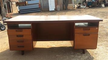 6 Drawer wooden desk for sale