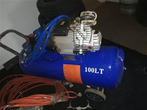 Compressor and paint pot for sale R5500.00 for both