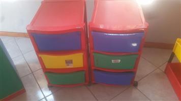 Kiddies storage drawers for sale