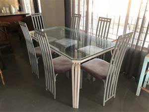 Wrought Iron 6 seater Dining suite
