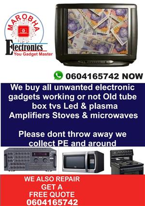 Cashh on tube tvs working or not wo