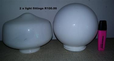 2 Light fittings