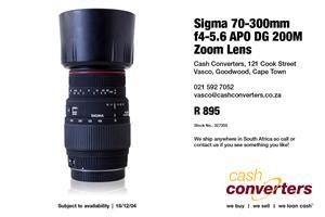 Sigma 70-300mm f4-5.6 APO DG 200M Zoom Lens