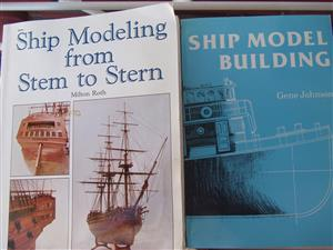 Ship Modeling from Stem to Stern & Ship Model Building - both books in excellent condition