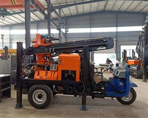 This water well drilling rig can drill 100m depth in area there is