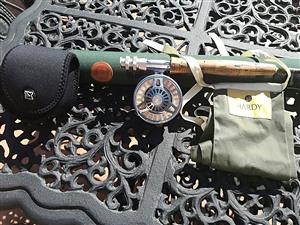 Hardy Demon fly rod 3 piece and Hardy swift mk2 reel including line.