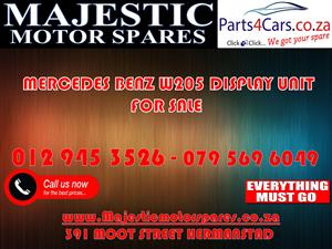 Mercedes benz W205 display unit for sale used spares