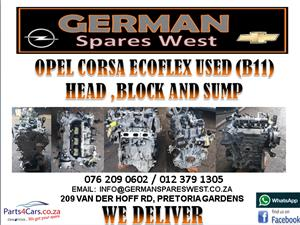 OPEL CORSA ECOFLEX USED (B11) HEAD, BLOCK AND SUMP FOR SALE