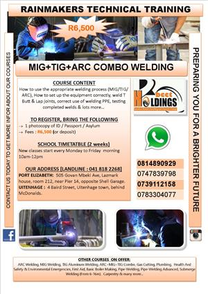 Welding COMBO COURSE SPECIAL for R6500!!!