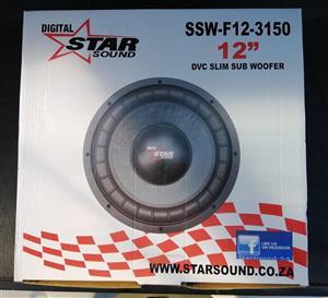 """12""""star sound slim sub 2500w svc for sale."""