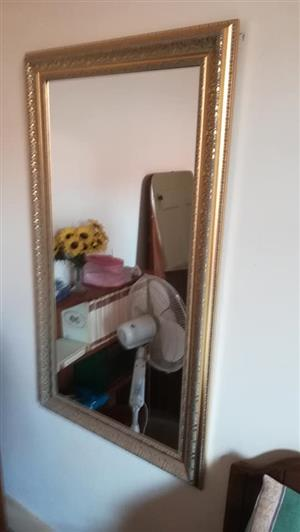 Golden framed mirror for sale