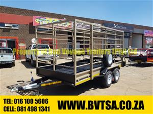4 Meter Double Axle Cattle Trailer For Sale
