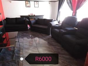 Black lounge suite for sale