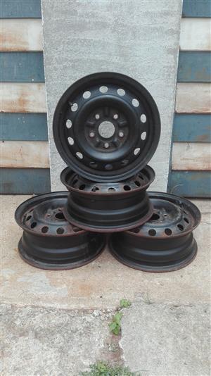 4 x 1/2 jj - 14 H2 Steel Rims