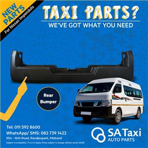 NEW Rear Bumper for Nissan NV350 Impendulo - SA Taxi Auto Parts quality spares