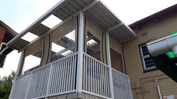 Custom made outdoor roller blinds