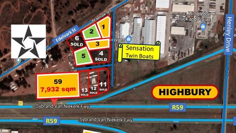 1,983 SQM STANDS FOR SALE ON (R59) (from R 199/SQM)