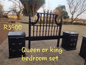 Queen or king bedroom set