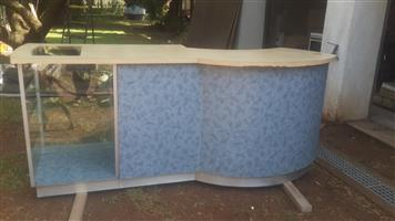 Shop counter with display for sale