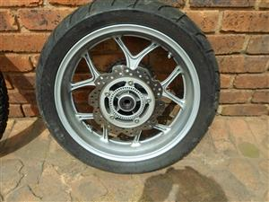Honda NC 700 Rim and Tyre.