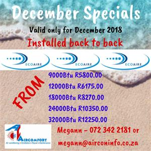 December Special on Airconditioners