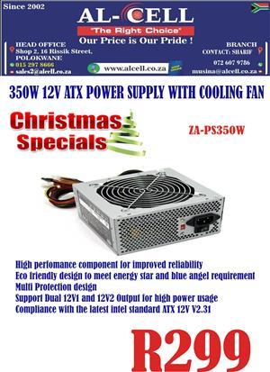 Zavision 350 Watts ATX Power Supply With Cooling Fan