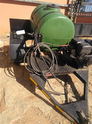 Mobile car pressure washer trailer