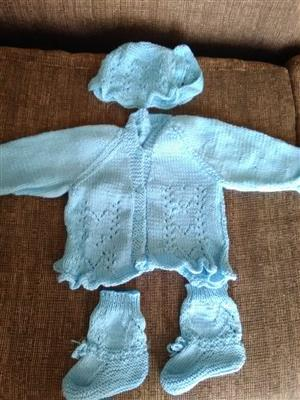 Homemade knitted baby clothes for sale!