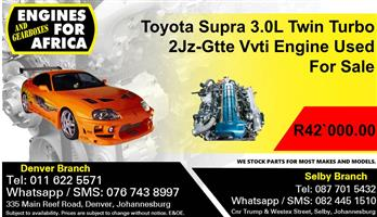 Toyota Supra 3.0L Twin Turbo 2Jz-Gtte Vvti Engine Used For Sale.