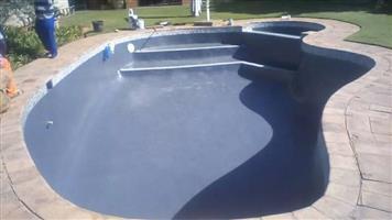 blue swiming pool