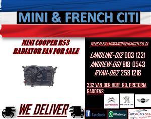 MINI COOPER R53 RADIATOR FAN FOR SALE