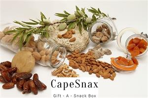 Healthy Snack Boxes filled with Nuts, Seeds, Dried Fruit, Biltong, Dry Wors, Candy etc for gifts or lunch boxes.