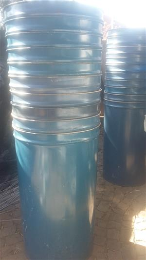 Non ribbed Steel Drums open top 210 Liter from R100 each
