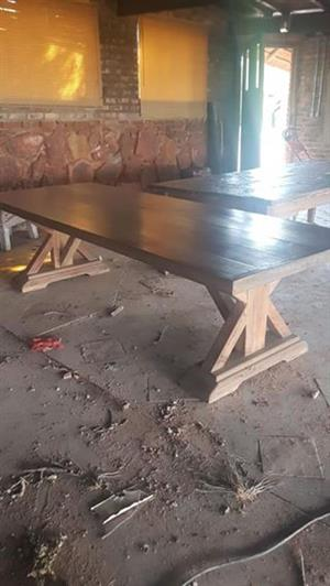 Solid wooden tables 3 m