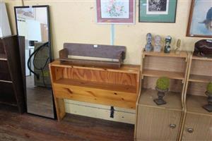 Light wooden side shelf