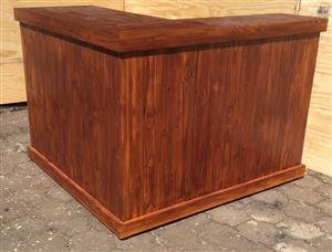 Reception Counter Farmhouse series 1550 L-shape - Stained