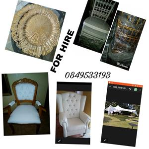Decor items for parties, weddings, tombstones, babyshowers,etc for hire. Packages also available