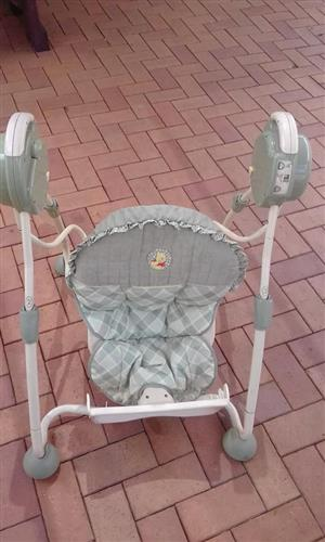 Grey Winnie The Pooh baby chair for sale