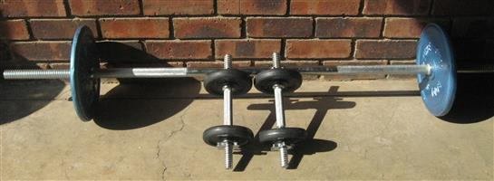 Body Sculpture weights and York Dumbbells