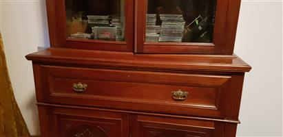 Antique bookcase with desk