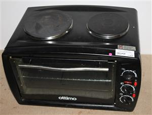 Ottimo 2 plate stove with oven black S031535A #Rosettenvillepawnshop