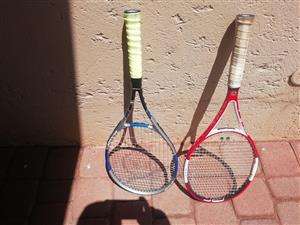 Senior wilson and Dunop rackets