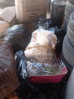 Bags full of bedding