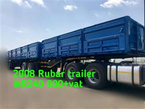 2008 Rubar drop side Trailer
