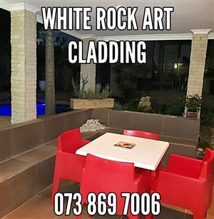 BEAUTIFUL White Rock Art Cladding - Covers around 3SQM - R450