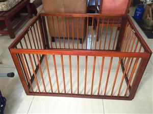 Restored Solid wood Playpen for baby with 2 folding arms - also used for pets