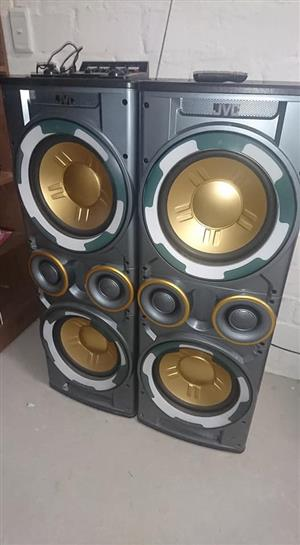 2 Large JVC Speakers for sale