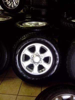 Isuzu 16 inch rims with used 245/70/16 Goodyear Wrangler R6000 x4 s