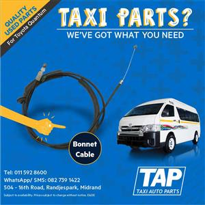 Bonnet Cable for Toyota Quantum - Taxi Auto Parts quality used spares - TAP